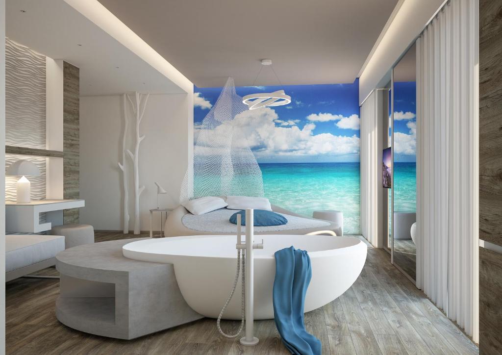 Suite Deluxe con Balcone, Vista Mare e Accesso Spiaggia